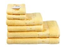 Рушник махровий Maisonette Bamboo 30*50 жовтий 500 г/м2 - фото 24283