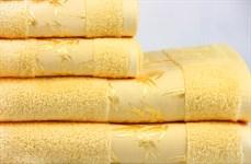 Рушник махровий Maisonette Bamboo 30*50 жовтий 500 г/м2 - фото 24284