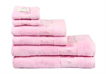 Рушник махровий Maisonette Bamboo 30*50 рожевий 500 г/м2 - фото 24291
