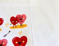 Рушник махровий Кохання червоний 40*60 350г/м2 - фото 24302