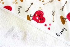 Рушник махровий Кохання рожевий 40*60 350г/м2 - фото 24337