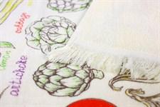Рушник махровий Овочі 40*60 кольоровий 350г/м2 - фото 24351