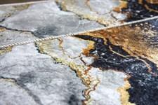 Набір килимків Ella 60*100+40*60 EL2 MERMER SIYAH GOLD - фото 25084