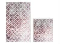 Набір килимків Ella 60*100+40*60 EL7 PUDRA DESENLI - фото 25125