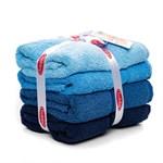 Набір рушників RAINBOW Mavi 50*90 синій 500г/м2 4шт. - фото 25268