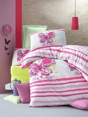 КПБ LIGHTHOUSE ranforce CUTE BUTTERFLY рожевий 160*220/2*50*70 *