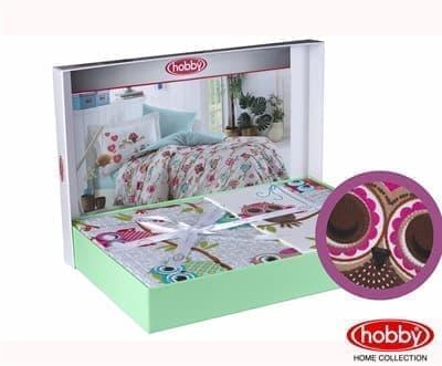 КПБ Hobby Poplin Candy рожевий 160*220/1*50*70 - фото 6054