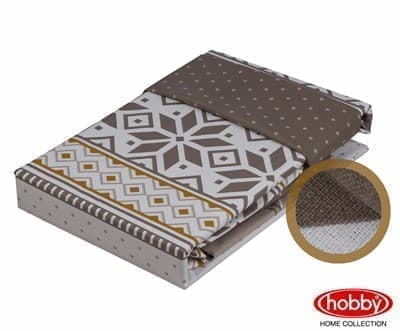 КПБ Hobby Poplin Carla коричневий 200*220/2*50*70 - фото 6058