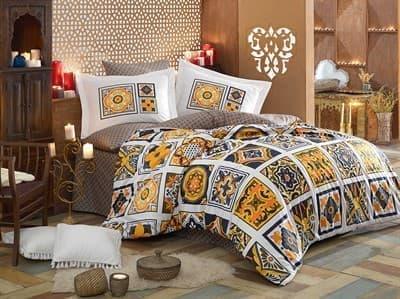 КПБ HOBBY Poplin Mozaique жовтий 160*220/1*50*70 *