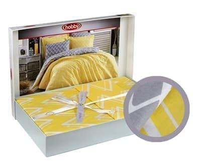 КПБ Hobby Poplin Nazende жовтий 200*220/2*50*70 - фото 6140