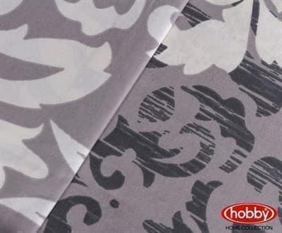 КПБ Hobby Poplin Serenity сірий 160*220/1*50*70 - фото 6154