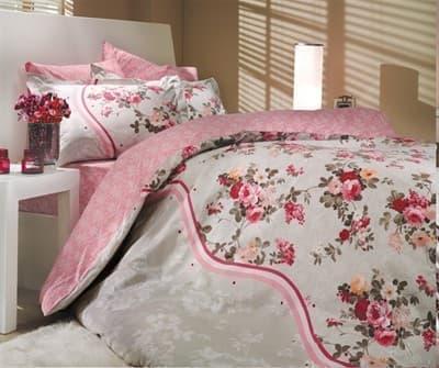 КПБ HOBBY Poplin Susana рожевий  200*220/2*50*70 + подарунок 2*70*70