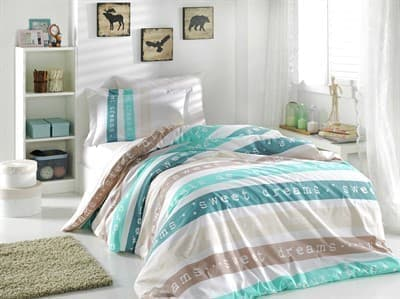 КПБ Hobby Poplin Sweet Dreams м'ятний 160*220/1*50*70