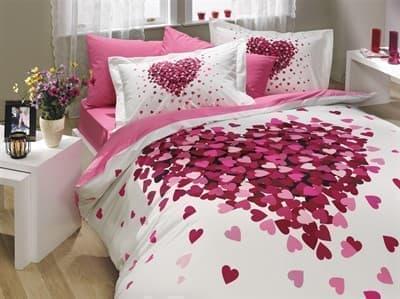 КПБ HOBBY Poplin Juana рожевий 200*220/160*200+25 на рез./2*50*70