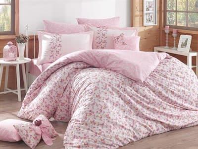 КПБ HOBBY Poplin Luisa рожевий 200*220/160*200+25 на рез./2*50*70