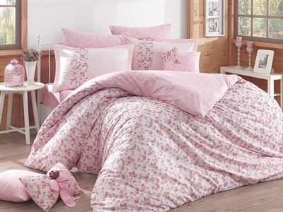 КПБ HOBBY Poplin Luisa рожевий 2*160*220/2*50*70