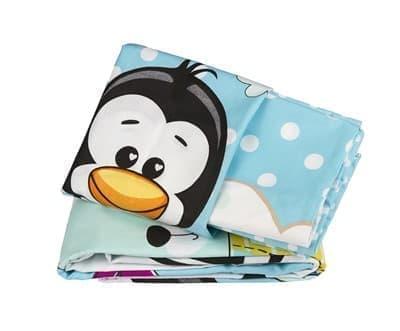 КПБ Hobby дит. Penguin блакитний 100*150/2*35*45 - фото 6235