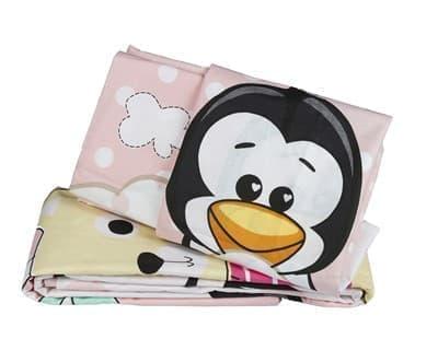 КПБ Hobby дит. Penguin персиковий 100*150/2*35*45 - фото 6237