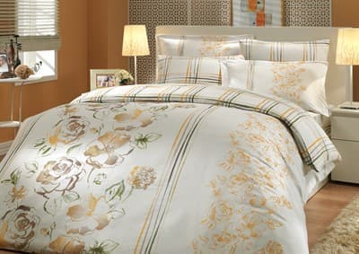 КПБ HOBBY Exclusive Sateen Arabella бежевий 200*220/2*50*70+2*70*70