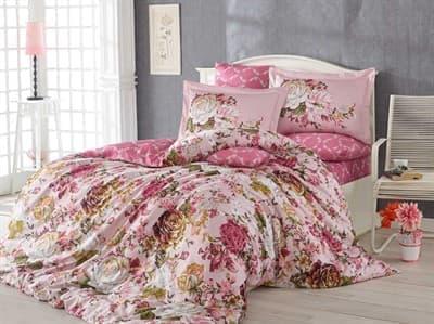 КПБ HOBBY Exclusive Sateen Rosanna рожевий 200*220/4*50*70