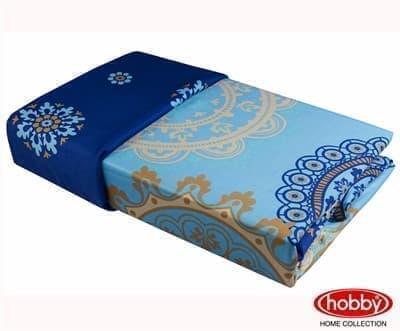 КПБ Hobby Exclusive Sateen Ottoman блакитний 2*160*220/2*50*70+2*70*70 - фото 6391