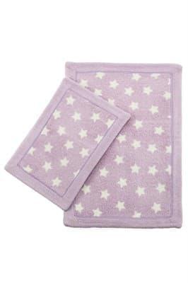 Набір килимків LUX SUFFY 40*60+60*90 YILDIZLI LILA