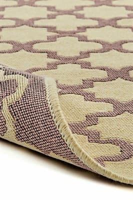 Набір килимків SOLO 40*60+60*90 KREM PEMBE GEOMETRI - фото 6892