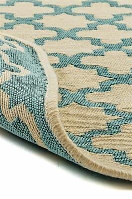 Набір килимків SOLO 40*60+60*90 KREM MAVI GEOMETRI - фото 6894