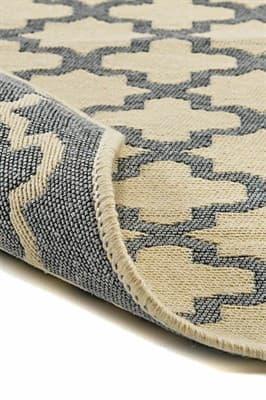 Набір килимків SOLO 40*60+60*90 KREM GRI GEOMETRI - фото 6910