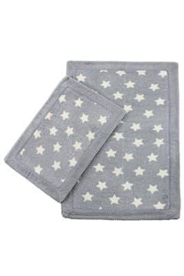 Набір килимків LUX SUFFY 40*60+60*90 YILDIZLI GRI