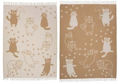 "Плед Vladi жаккард ""Cats"" 140*200 бежевий (нов) - фото 7248"
