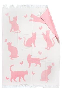 "Плед ""Meow"" 140*200 рожевий - фото 7713"