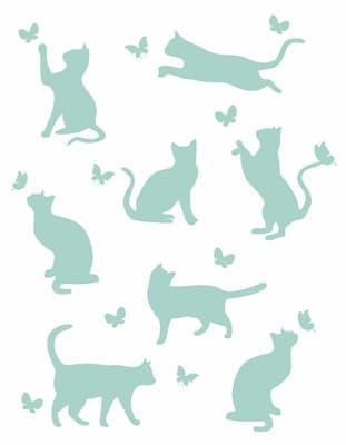 "Плед ""Meow"" 140*200 м'ята - фото 7721"
