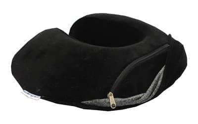 Подушка ORTOPEDIA TRAVEL COLOR чорн. 34*33*10 - фото 7762