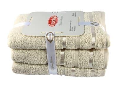 Набір рушник NISA бежевий 100*150 1шт. - фото 8170