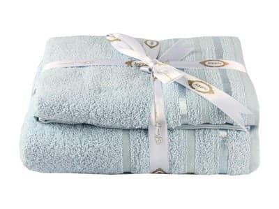 Набір рушник NISA блакитний 100*150 1шт. - фото 8174