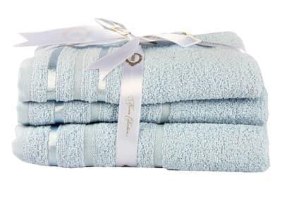 Набір рушник NISA блакитний 100*150 1шт. - фото 8175