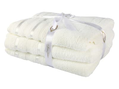 Набір рушник NISA молочний 100*150 1шт. - фото 8178