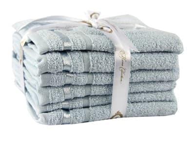 Набір рушників NISA блакитний  30*50 6шт. - фото 8286