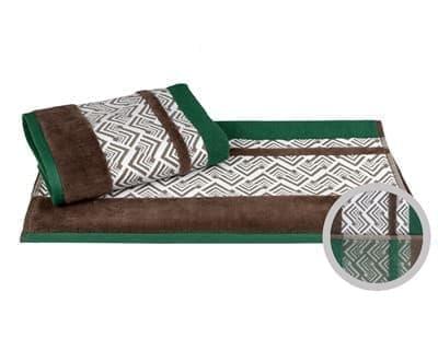 Рушник NAZENDE 50*90 зелений/коричневий 560г/м2 - фото 8373