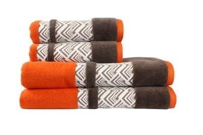 Рушник NAZENDE 70*140 помаранчевий/коричневий 560г/м2 - фото 8453