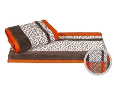 Рушник NAZENDE 70*140 помаранчевий/коричневий 560г/м2 - фото 8454