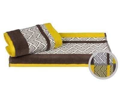 Рушник NAZENDE 70*140 жовтий/коричневий 560г/м2 - фото 8468