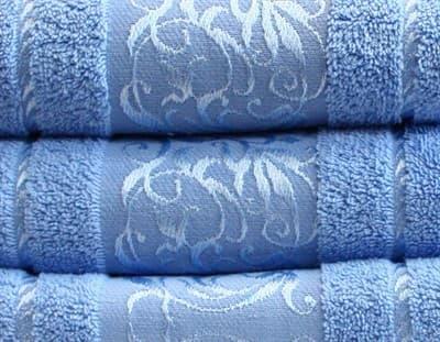 Рушник махровий Ottoman 50*90 блакитний 450г/м2 - фото 8797