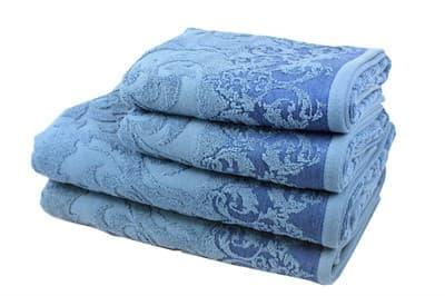 Рушник махровий Supreme 70*140 синій 550г/м2 - фото 8818