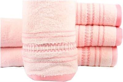 Рушник махр Pacific 70*140 рожевий 450г/м2 - фото 8844