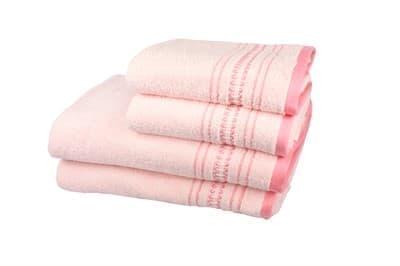 Рушник махровий Pacific 50*90 рожевий 450г/м2 - фото 8872