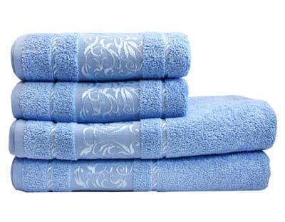 Рушник махровий Ottoman 70*140 блакитний 450г/м2 - фото 8948