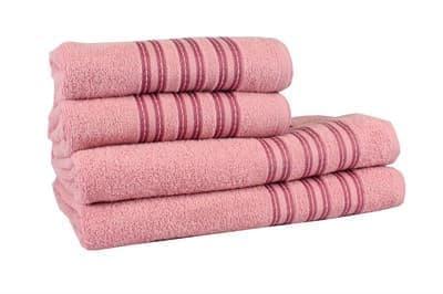 Рушник махровий Ares 50*90 т.рожевий 400г/м2 - фото 8963