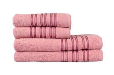 Рушник махровий Ares 50*90 т.рожевий 400г/м2 - фото 8964